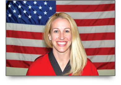 Mrs. Schaefer Picture Owner of Karate America Neenah